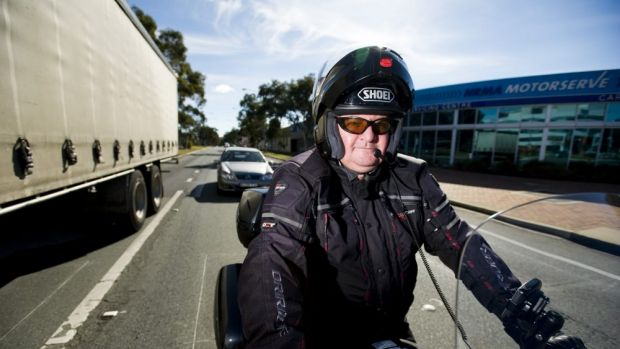 Motorcycle Riders Association of the ACT president Steve Robson wants lane filtering legalised in Canberra.
