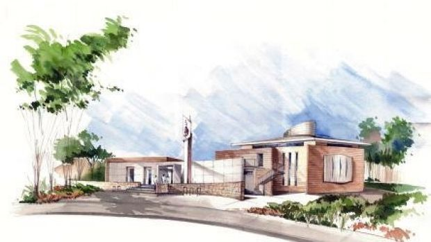An artist's impression of the proposed Gungahlin Mosque.