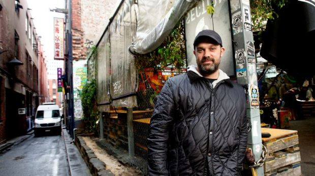 Maz Salt, founder of Section 8, one of Melbourne's first pop-up bars.