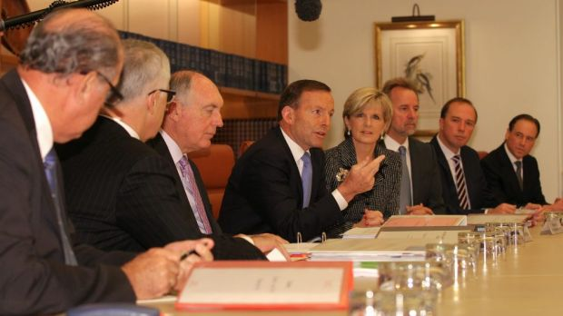 Ms Bishop made the comments during a full meeting of the Abbott ministry.