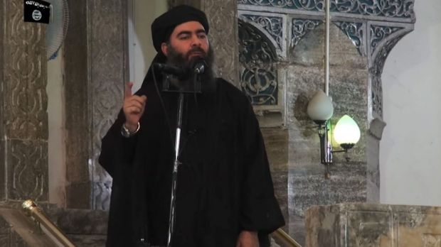 "ISIL leader and self-declared ""Caliph"" Abu Bakr al-Baghdadi."