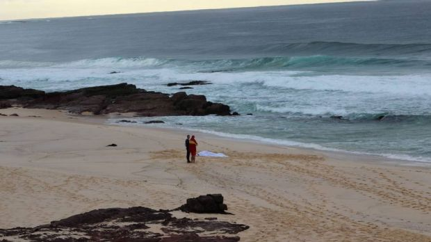 Quondola Beach is now a crime scene following a drowning death on Tuesday morning.