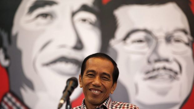 Firming up as a favourite: Jakarta governor and presidential candidate Joko Widodo.