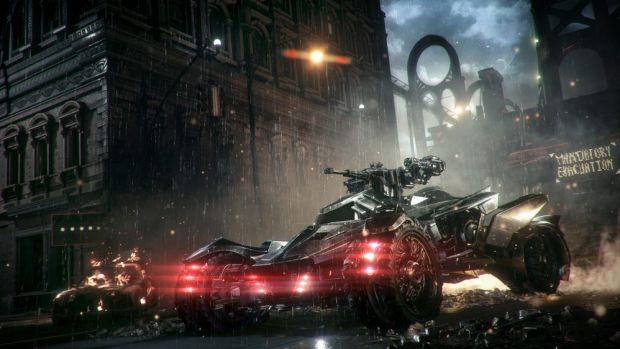 Gotham's streets have been developed alongside the tank-like Batmobile in <i>Arkham Knight</i>.