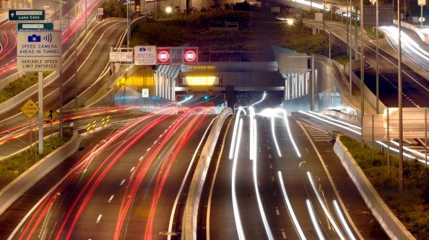 Peak traffic passes through the Lane Cove Tunnel, boosting revenues for the company.