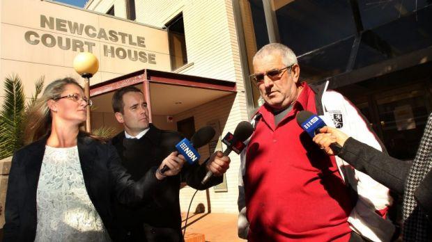Serial offender: David John Browne leaving Newcastle Court House on Thursday.