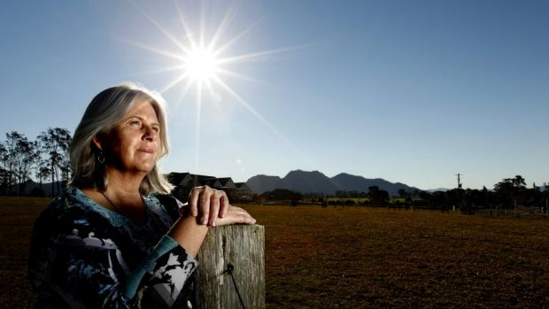 Under siege: Kathy Wardrop is dismayed by the mining projects popping up around her house at Forbesdale.