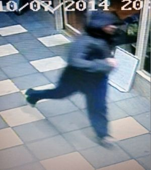 The man police are seeking over the attempted robberies.