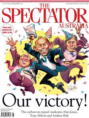 The Spectator Australia cover for July 12.