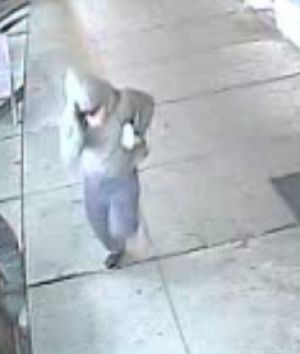 CCTV footage of the a man believed to be involved in an aggravated robbery.