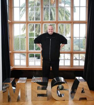 Kim Dotcom, founder of ultra-encrypted file storage site, Mega, and online streaming music service designed to bypass ...