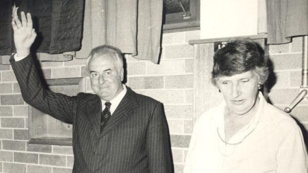 The Whitlams attend a farewell dinner at the Blacktown Civic Centre in 1978.