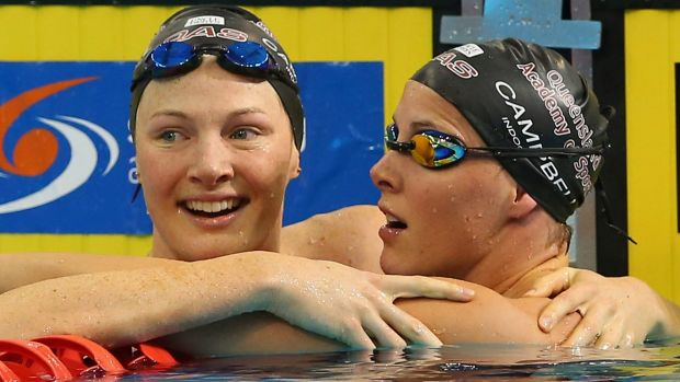 Swimmer sisters: Cate and Bronte Campbell.