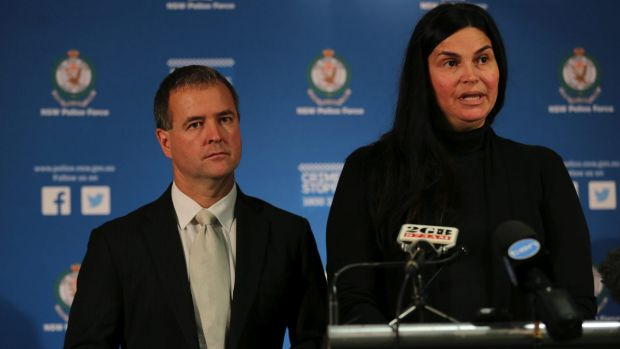 Appeal: Detective Superintendent Mick Willing with Jackie Gasovski at a press conference in Sydney.