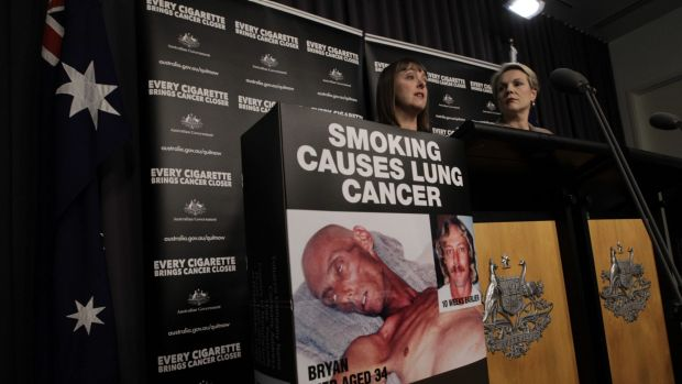 Former attorney-general Nicola Roxon and health minister Tanya Plibersek during the implementation of plain packaging ...