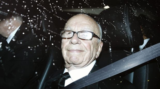 Rupert Murdoch arriving at the 50th anniversary celebrations of The Australian this week.