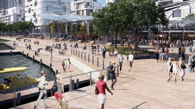 An artist's impression of how the revamped Fish Markets might look.