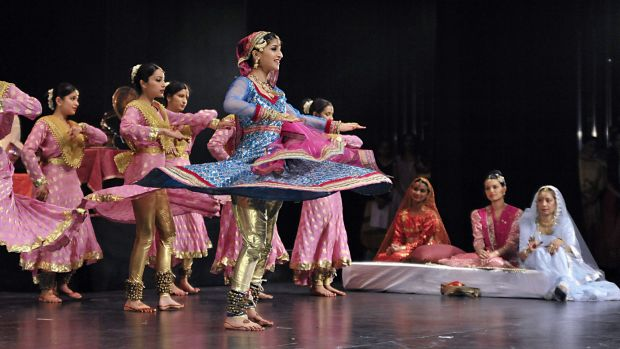 Energetic display: A scene from <i>Devdas the Musical</i>.