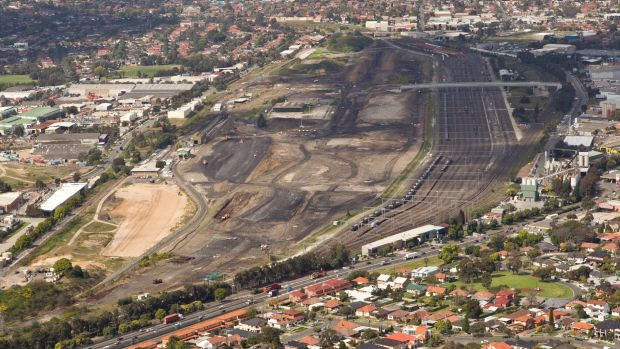 Growing demand: The site of the new Sydney Ports€ Intermodal Logistics Centre (ILC) at Enfield.