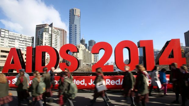 Sombre mood: The AIDS conference is due to begin in Melbourne this weekend.