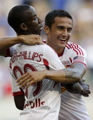 On the move: Tim Cahill has agreed to leave MLS club New York Red Bulls.
