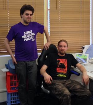 Leigh (30) and Rohan (32) Harris, founders of Flat Earth Games.