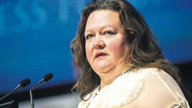 Gina Rinehart is stepping down from the board of Ten to concentrate on her Roy Hill iron ore project.