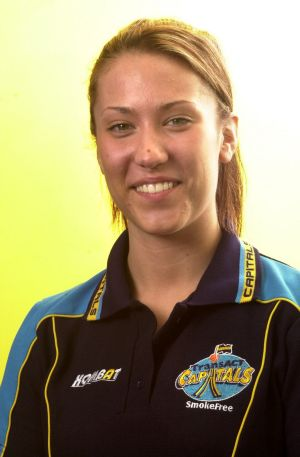 Janna Maree Sladic during her time at the Canberra Capitals.