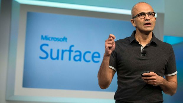 Microsoft chief executive Satya Nadella at the unveiling of the Surface Pro 3 in May.