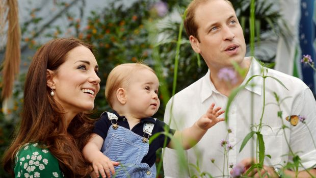 Catherine, Duchess of Cambridge with Prince George  and Prince William, Duke of Cambridge, at the Sensational ...