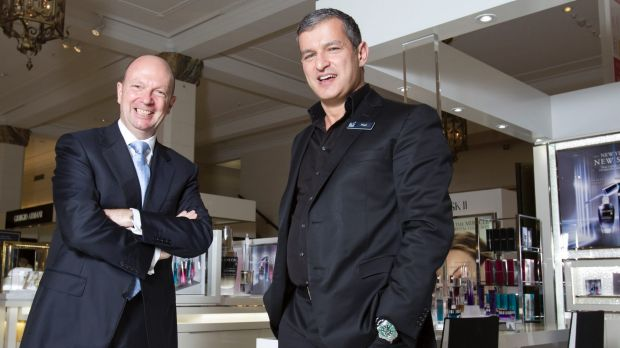 David Jones chairman Gordon Cairns (left) with CEO Paul Zahra.