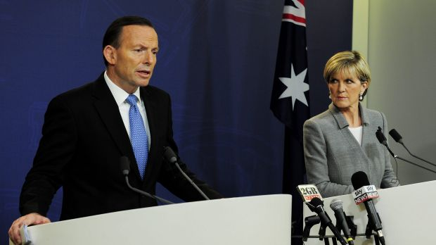 By speaking earlier and more plainly than other international leaders, Tony Abbott and Julie Bishop have stiffened the ...