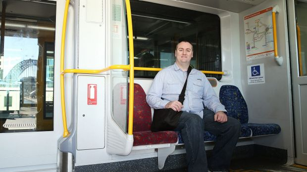 Productive time: Tony Simpson has been catching a train to central Sydney for five years.