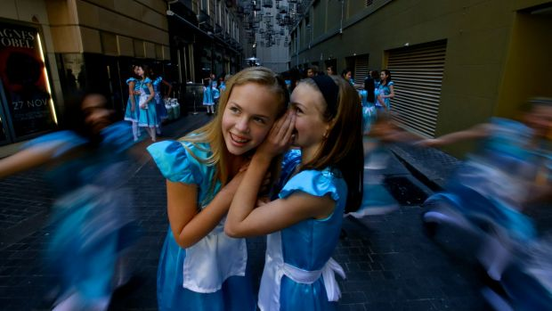 Adventures in the city: Maddy Long (left) and Maya Felice, two of the year 6 students from MLC School who  were inspired ...