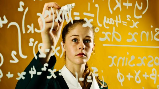 Despite efforts to encourage girls to continue with maths and science, they are under-represented in university classes.