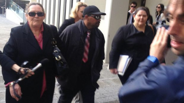 Patrick Comeagain outside Perth Magistrate's Court in 2014.