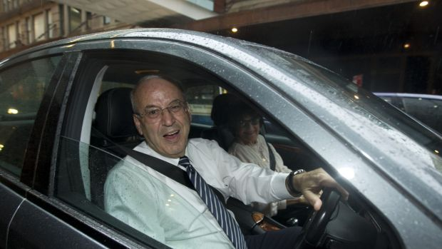 Eddie and Judith Obeid leave an ICAC hearing.
