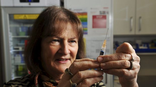 Dr. Suzanne Davey prepares an immunisation needle at the Kambah Village Medical Practice.