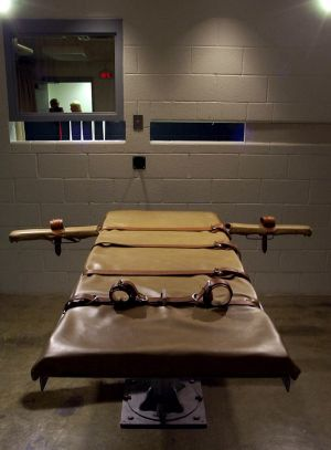 A lethal injection execution chamber. A shortage of the drugs used in lethal injections has led to some US state's ...