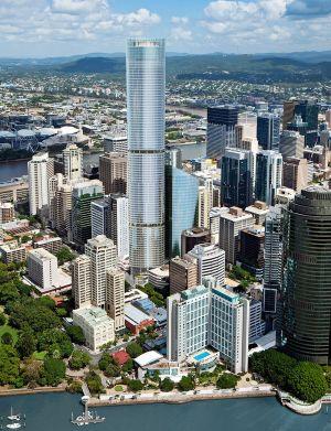 Artist's impression of how the Vision Tower might look on Brisbane's skyline.