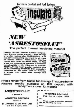 An advertisement by Dirk Jansen, aka Mr Fluffy, placed in The Canberra Times in 1968.