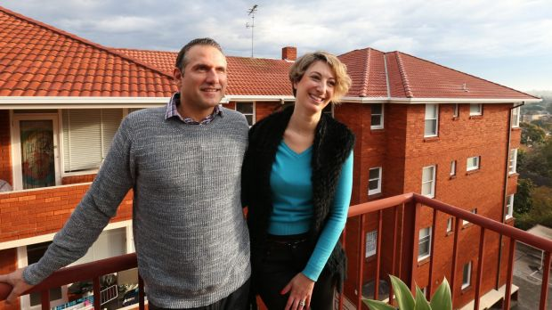 In the bank: Shane and Dinah Hearn have been renting in Bondi, but will soon move into an apartment they have bought in ...