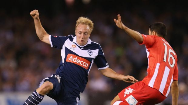 Former Brisbane Roar attacking midfielder Mitch Nichols, 25, is a member of the Socceroo's squad and is on loan to Perth ...