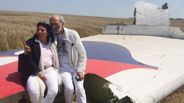 The parents of Australian, Fatima Dyczynskia arrived at the crash site of the doomed MH17 flight in search of their daughter.