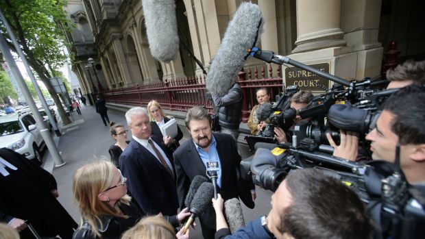 Hinch, pictured arriving at to face charges of contempt over the naming of a sex offender, has made a career out of ...