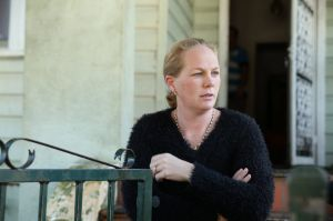 ''I can't believe it'': Neighbour Leanne Seaton reacts to the double shooting.