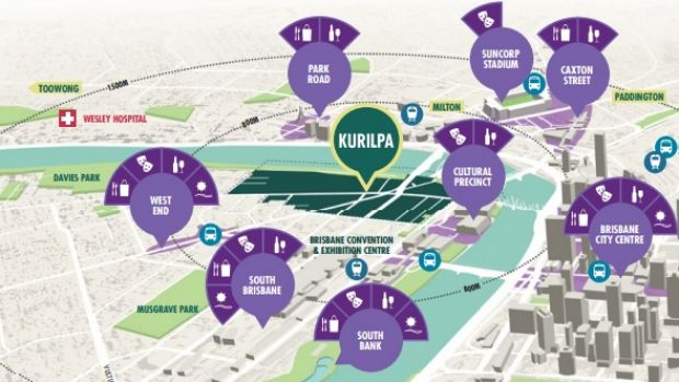 A graphic showing prime real estate set to be revamped.