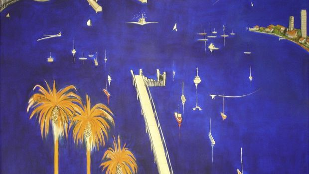 The Brett Whiteley painting Big Blue Lavender Bay.