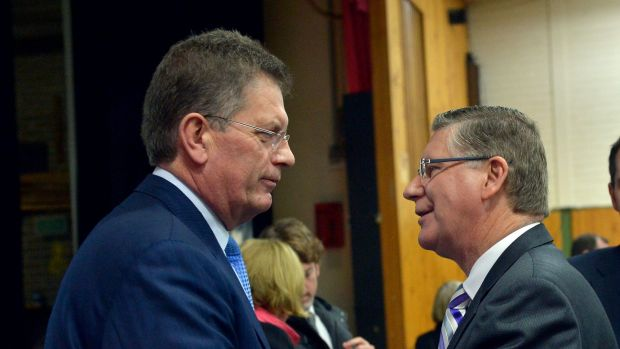 Ted Baillieu and Premier Denis Napthine at Patterson River Secondary College.