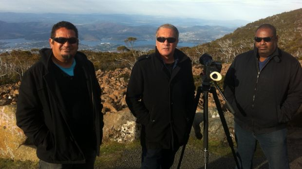 High-altitude work: From left, Murray Lui, Steven McGregor  and David Tranteron on location for the second series of  ...